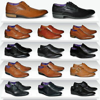 Mens New Lace Up Casual Leather Smart Brogues Formal Shoes UK SIZE 6 7 8 9 10 11