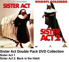 SISTER ACT 1 AND SISTER ACT 2 MOVIE FILMS DVD DOUBLE PACK Whoopi Goldberg New UK
