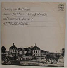 """BEETHOVEN TRIPELKONZERT WÜHRER GIMPEL SCHUSTER WALTHER DAVISSON 10"""" LP (e805)"""