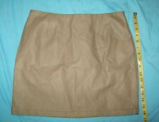 "Women's FOREVER21 Faux Leather Brown Skirt Size Large cute Sexy mini 31.5"" waist"
