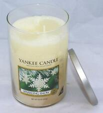 Yankee Candle 20 oz Sparkling Snow Tumbler Glass Large Jar Candle 2 Wick