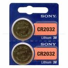 2 NEW SONY CR2032 3V Lithium Coin Battery Expire 2025 FRESHLY NEW - USA Seller