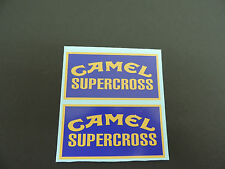 Set of Two Camel Supercross Vintage Motocross Decals AHRMA CR YZ RM KX