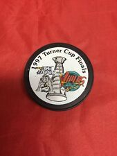 Vintage Rare Old 1997 Western Conference Turner Cup Finals IHL Hockey Puck