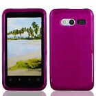 For MetroPCS Huawei Activa 4G M920 TPU Candy Flexi Gel Crystal Phone Case Purple