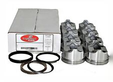 67-90 Chevy 350 5.7L V8 Flat Top Pistons AND Moly Rings