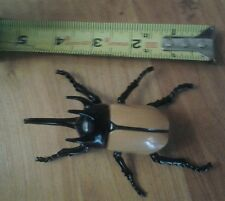 Vintage Tomy Ugh-A-Bug Wind-Up Toy Horned Beetle Scary Moving Robotic Figure