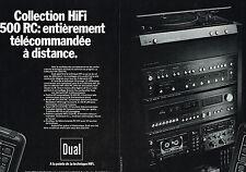 PUBLICITE ADVERTISING 094  1979  DUAL  chaine hi-fi  1500RC ( 2p)