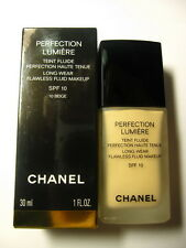 FOUNDATION CHANEL PERFECTION LUMIERE LONG WEAR FLAWLESS FLUID MAKEUP 10BEIGE