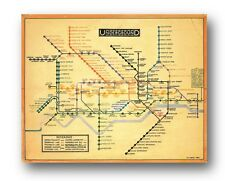 "LONDON UNDERGROUND MAP Harry Beck 1933 - Design ART. 10x8"" Print"