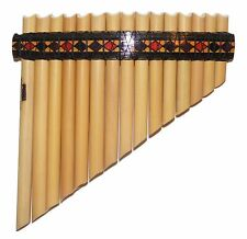 Professional Inka Motifs 15 Pipes Tunable Pan Flute - Watch video