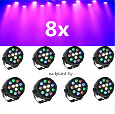 8X LED RGB Stage Light Par DMX-512 Lighting Laser Projector Party DJ Disco