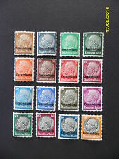 German Third Reich. MH Hindenburg 1940 Luxenburg Overprint Occupation stamp set