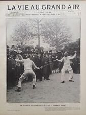 LA VIE AU GRAND AIR 1902 N 194 LE TOURNOI INTERNATIONAL D' EPEE - L'ASSAUT FINAL