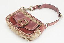 Authentic COACH Signature Shoulder Bag 7061 Suede Bordeaux Free Shipping 434e12