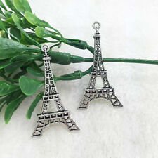 6pcs Eiffel Tower Tibet silver Charm Pendant beaded Jewelry Findings