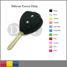 Silicone Cover Holder Shell fit for TOYOTA Corolla Remote Key Case 2 BTN 11C BK