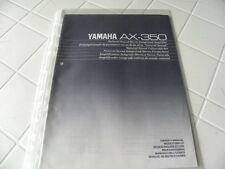Yamaha AX-350 Owner's Manual  Operating Instructions Istruzioni New