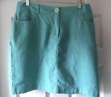 BODEN Womens US 10 UK 14 Light Blue Linen British Mini Skirt