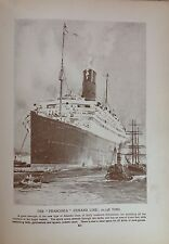 The Franconia, Cunard Line Vintage Print c1928, Nautical The Sea Cruise Ships