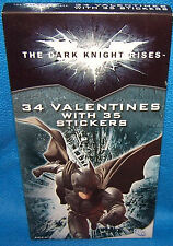 Valentines Day Cards (Box of 34) The Dark Knight Rises Batman with Stickers
