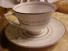Royal Doulton TIARA Cup & Saucer H4915 Made in England White Bone China