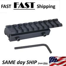 Tactical Base Mount 11mm to 20mm Extended Dovetail Picatinny W/ Rail Conversion