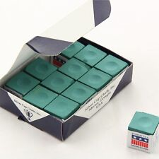 12 x SILVER CUP Snooker Pool Billiard Chalk - GREEN