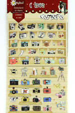1 sheet Retro travel camera pattern scrapbooking stickers photography lover gift