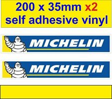 new x2 Michelin men runing tyers decals car van bus truck bike sticker motorbike