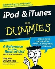 Ipod and Itunes for Dummies by Cheryl Rhodes and Tony Bove  Ships FREE!