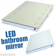LED ILLUMINATED BATHROOM MIRROR DEMISTER / SHAVER / SENSOR MODERN MIRRORS DECOR