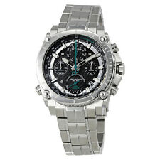 Bulova Precisionist Chronograph Black Dial Mens Watch 96B241