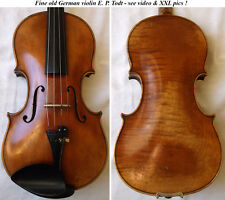 OLD GERMAN MASTER VIOLIN E.P. TODT - see video - ANTIQUE バイオリン скрипка 小提琴 604