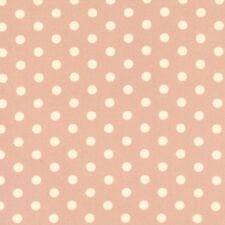 Tanya Whelan Petal French Polka Dots Home Decorator Sateen Fabric in Pink