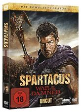 SPARTACUS WAR OF THE DAMNED DIE KOMPLETTE SEASON 3 UNCUT DVD DEUTSCHE BOX