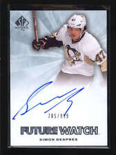 SIMON DESPRES 2011/12 11/12 SP AUTHENTIC FUTURE WATCH ROOKIE AUTO 785/999 AB5762