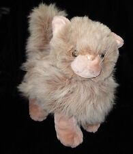 Walmart Tan Standing Plush Kitty Cat Stuffed Animal Soft Toy Beige 11""