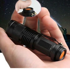 Outdoor 180LM CREE Q5 LED Tactical Hand Flashlight Focus Mini Torch Light Lamp B