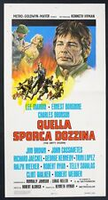 LOCANDINA, QUELLA SPORCA DOZZINA The Dirty Dozen JIM BROWN, BRONSON, WAR POSTER