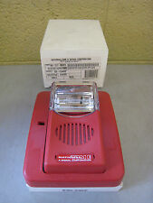 New National Time & Signal SG-C3HSZ 904-1317-002NTS Fire Alarm Horn Strobe Red