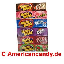 5x 5 Hubba Bubba Kaugummis USA (A&W Root Beer,Hawaiian Punch,Orange) (42,05€/kg)