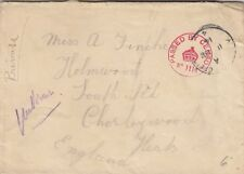 MILITARY : 1914 envelope to Chorleywood -APO /4 single ring