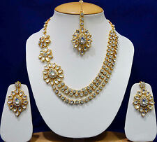 Indian Bollywood Bridal Kundan Necklace Set With Earrings Royal Jewelry Sets B1