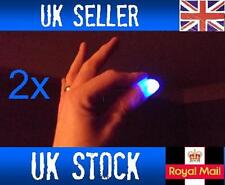2x Magic Light up flashing thumbs fingers BLUE trick appearing light close up