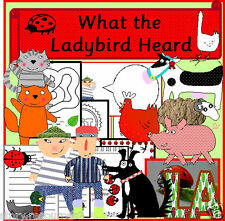 WHAT THE LADYBIRD HEARD STORY TEACHING RESOURCES 4 SACK KS1 EYFS SEN MINIBEASTS