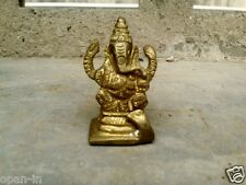 Ganesh Ganesha Hindu Elephant Lord of Success Brass Statue
