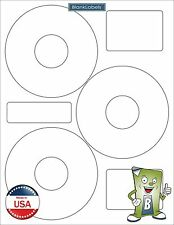 75 CD DVD Disk Laser / Ink Jet Labels Compatible Neato CLP-192301. 25 Sheets 3up