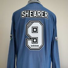 Newcastle United Away Shirt Adult XL SHEARER #9 1996/1997 Long Sleeves L/S