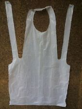 "PLASTIC DISPOSABLE APRONS FULL SIZE EMBOSSED BIB 24"" x 42""( 100 APRONS PER BOX )"